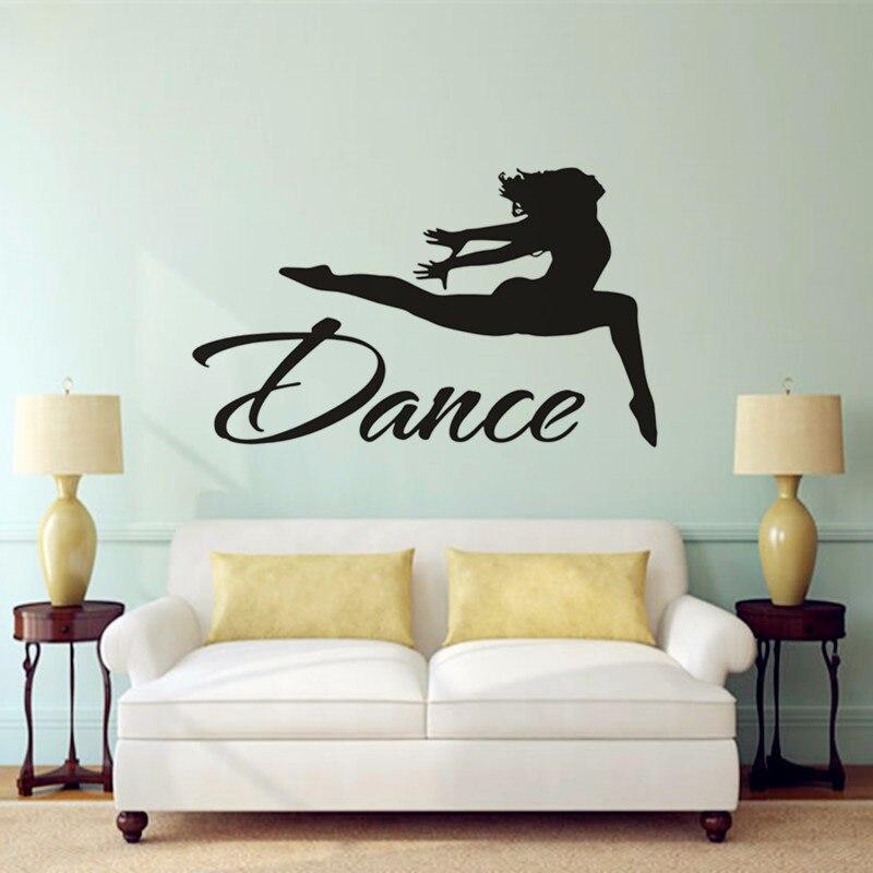 Gymnastics Wall Art t080010 dance girl wall decal gymnastics wall art sports decor