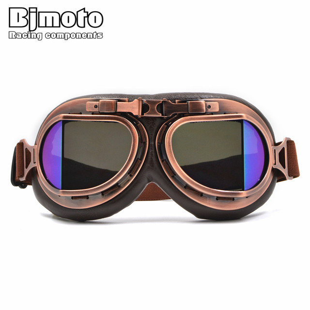93973f7c4a89 Bjmoto outdoor sport racing riding Motorcycle Glasses Vintage Classic  Goggles Retro Pilot goggles glasses for Harley