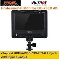 7 ''Viltrox DC 70EX 4 К HD клип на HDMI/SDI/AV Вход Выход Камера видео ЖК дисплей монитор Дисплей для Canon/Nikon/Pentax/Olympus DSLR