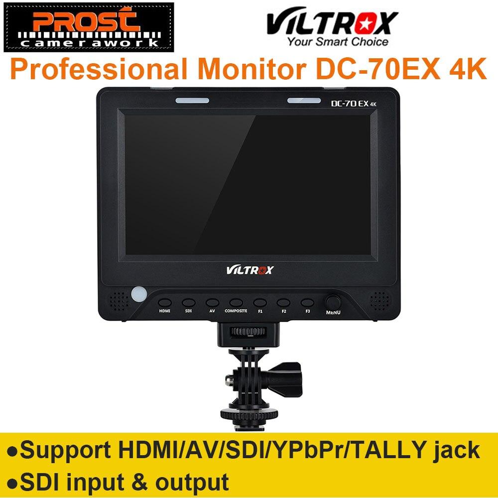 7 ''Viltrox DC-70EX 4 K HD Clip-sur HDMI/SDI/AV Entrée Sortie Caméra Vidéo LCD moniteur D'affichage pour Canon Nikon Pentax Olympus DSLR