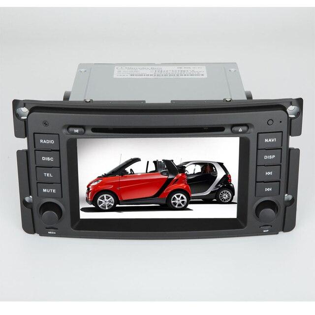 Auto Lettore DVD Sistema di Navigazione GPS Auto Radio Autoradio Multimediale Stereo per Mercedes-Benz Smart Fortwo (2006-2010)