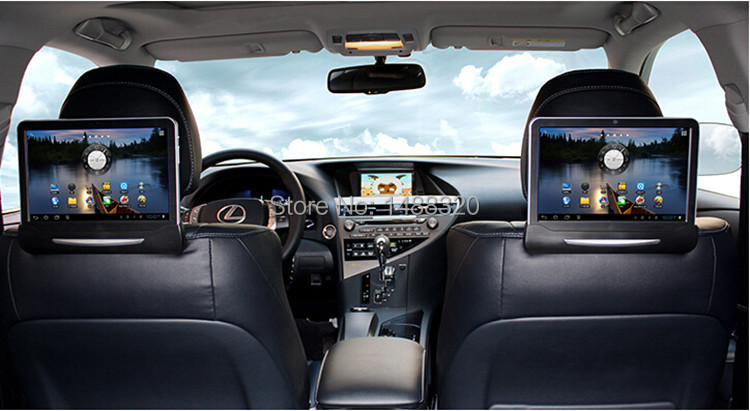 10 1 android 4 1 car headrest player for lexus with. Black Bedroom Furniture Sets. Home Design Ideas