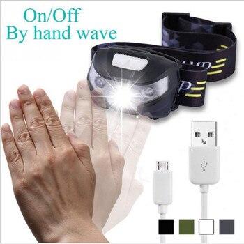 Интеллектуальный датчик фар/блики USB зарядка ночью Рыбалка фары/3 Вт Новый инфракрасный датчик анти-москитные фары