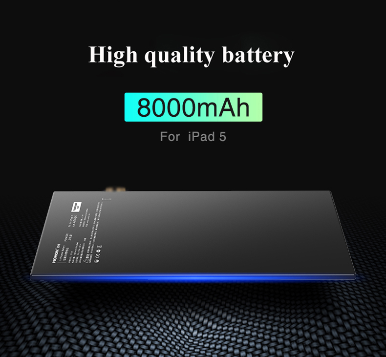 Nohon Battery For iPad 5 Air Battery 7800-8000mAh A1484 A1474 A1475 Bateria 0 Cycly + Tools For Apple iPad5 iPad Air 5 Batteries Details (05)
