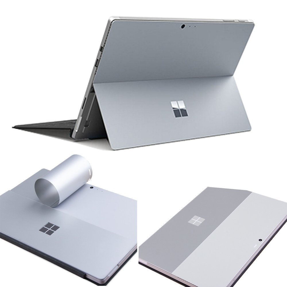 For Microsoft New Surface Pro 2017 Version Laptop Back Cover Anti-scratch Gray Removable Bubble Free Slim Decal Laptop Sticker