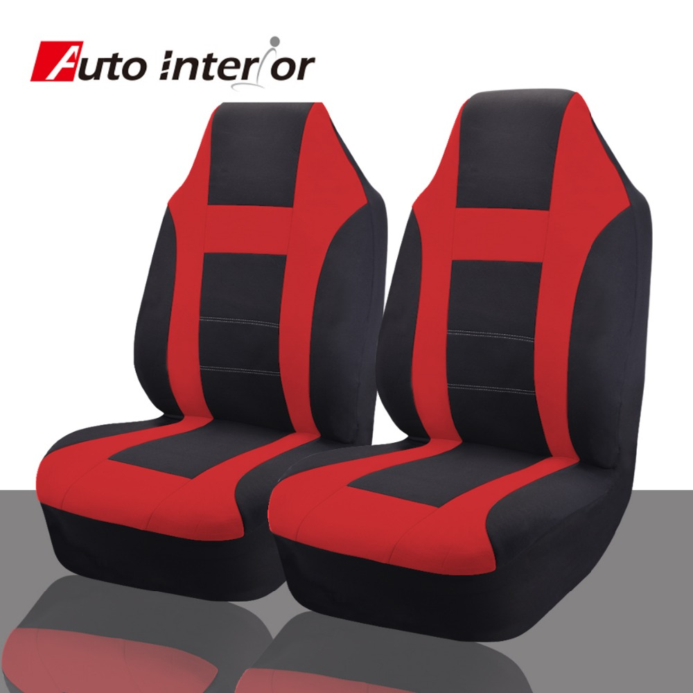 Car Seat Covers Universal Fit Most Styling Non Detachable Headrests Red Blue Gray Interior