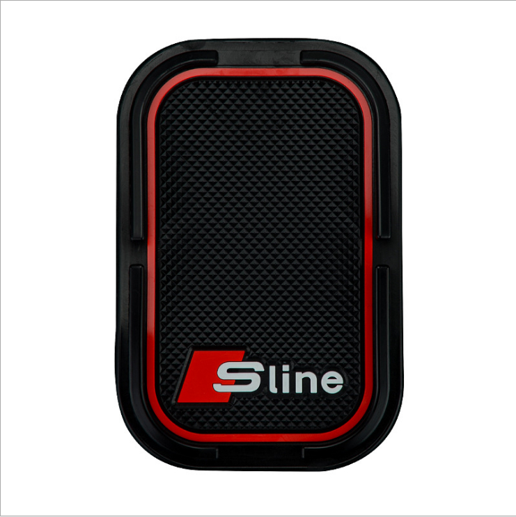High-quality Sline Logo 3D Car Phone Non-Slip For Audi Q3 Q5 Q7 A1 A3 S3 A4 S4 RS4 RS5 A5 A6 S6 C6 C7 S5 A7 S7 A8 c5 Accessories 2pcscar led door logo projection light for audi a4 b6 b8 a1 a3 a6 c5 80 a7 q3 q5 q7 tt rs4 rs5 rs6 s4 s5 s6 s7 rs sline fastship