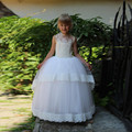 Ball Gown Long Lace Flower girls' Dresses for Wedding first communion dresses for girls 2016