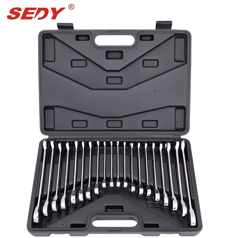 20 pcs SAE and Metric Ratchet Spanner Set Ratcheting Combination Wrench Imperial veconor 7 pieces flexible head ratchet wrench spanner set combination key wrench set 10 19mm