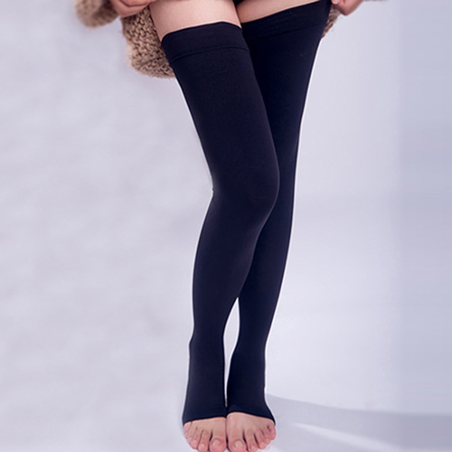 Closeout DealsUnisex Knee-High Medical Compression Stockings Varicose Veins Open Toe Stockings