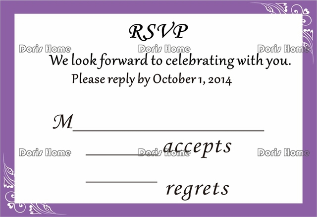 aliexpress com buy free shipping personalized rsvp card with free