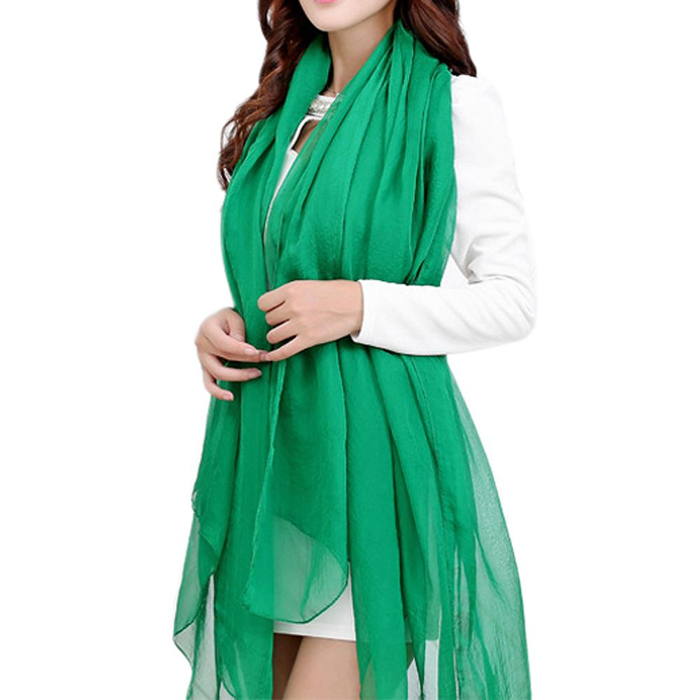 Tkoh Grass Green Trendy Summer Care Solid Color Scarf Shawl For Women Size 59.05 Inch Nourishing Blood And Adjusting Spirit 120*150cm/47.24