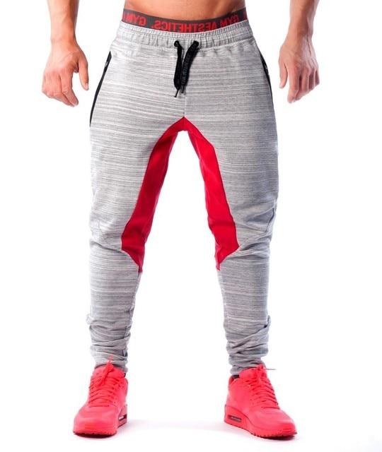 32f8494eab US $26.38 9% di SCONTO|2016 Uomini pantaloni Lunghi di Cotone uomo gasp  allenamento fitness Pantaloni casual sportivi jogger pantaloni skinny ...
