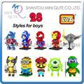 Promoción de ventas Qute LOZ Diamond bloques de construcción de diamante vengadores secuaces iron man 3D ladrillos de aprendizaje juguetes educativos para niños