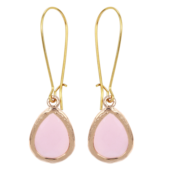 Hot 1pair Long Drop Pink Earring Dangle Earrings For Women S Wedding Crystal