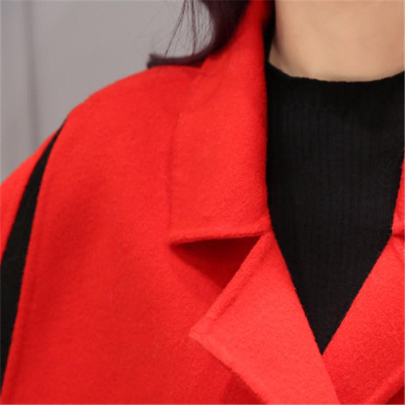 Spring Elegant Women Slim Coat Fur Color Short Sleeve High Quality Streetwear Red Yellow Coat 2018 15