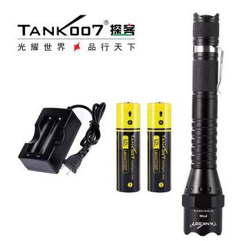 1 Set TANK007 PT40 Cree XM-L U2 5-modes1000lumen High Power LED Tactical Flashlight with 18650 Battery