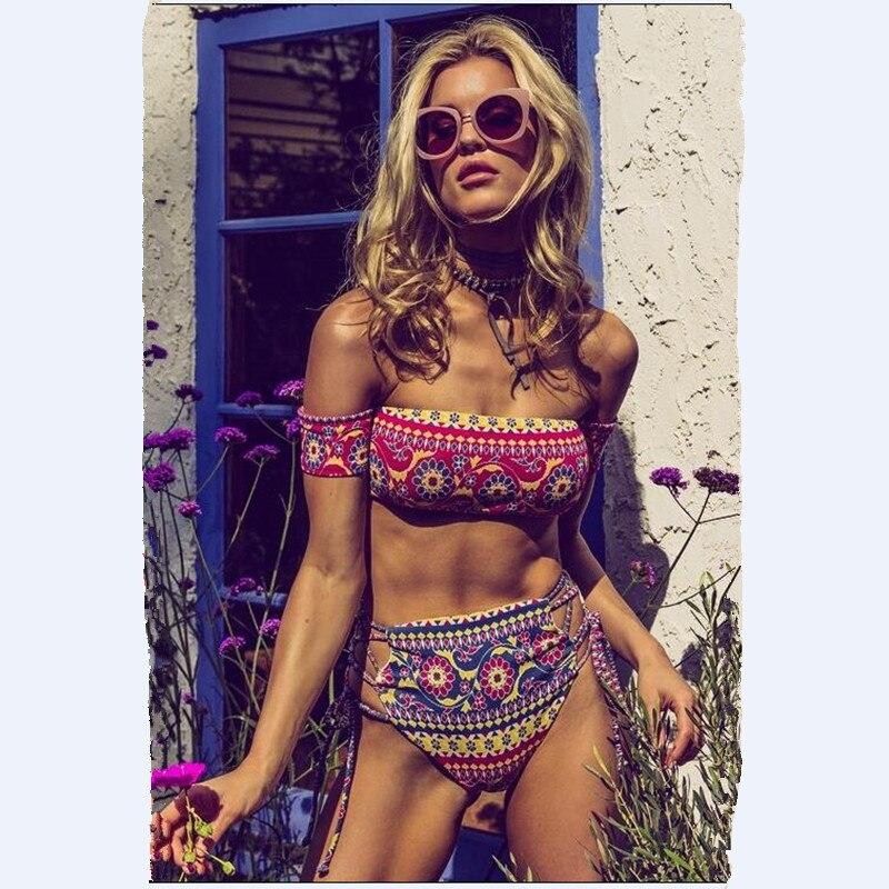 6478174089 Women swimwear 2018 short sleeves swimsuit bandeau tops bikini set low  waist bottoms bathing suit cheap brazilian biquinis sale-in Bikinis Set  from Sports ...