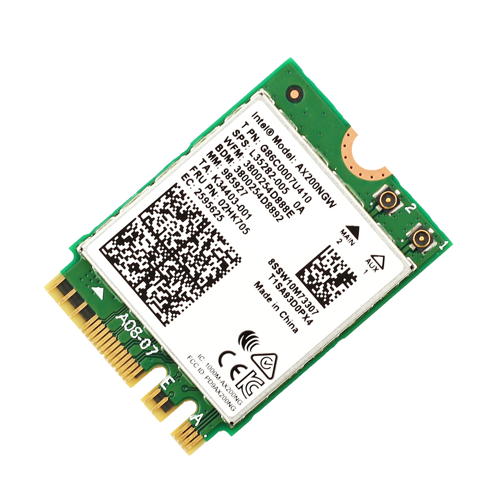 Image 5 - Dual band AX200NGW Wireless 802.11ac/ax Network Intel WiFi 6 AX200 Wlan NGFF Wifi Card 5G up to 2.4Gbps Bluetooth 5.0 + Antennas-in Network Cards from Computer & Office