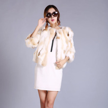 rabbit fur coat women winter Real fur coat woman winter warm coat girl fashion noble rabbit jacket yellow black gray