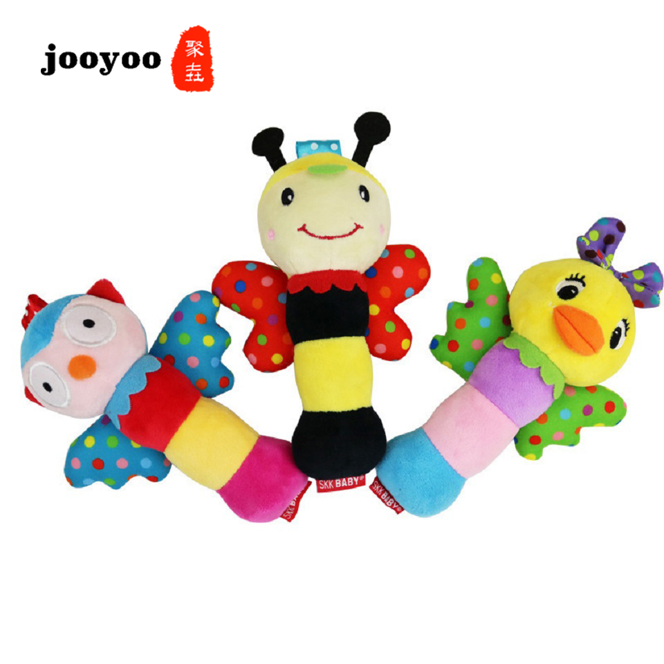 100% Quality Kid Gift Birth Boy Girl Colorful Mobile Musical Rattle Baby Childhood Puzzle Early Education Animal Bee Duck Owl Toy Jooyoo