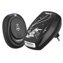 Waterproof Black Doorbell EU Plug-in 220V AC Digital LED  Music 100M Range Wireless Remote Control Home Door Bell Y6
