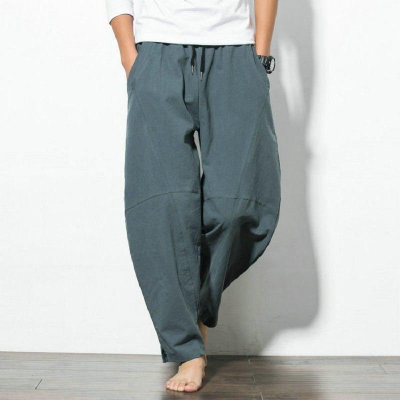 Hot sale 2020 Autumn Hip Hop Harem Pants Men Casual Loose Trousers Drawstring Joggers Men Chinese Style Mens Sweatpants M-5XL