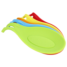 Silicone Heat Resistant Spoon Fork Mat Rest Utensil Spatula Holder Kitchen Tool  (Random Color)6YFF