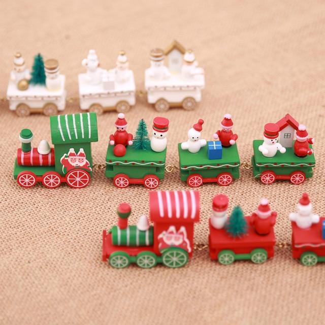 472272fd152 Navidad de madera pequeño tren Feliz navidad adornos decoración de ventana  de Casa de mesa de