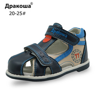 Apakowa Top Qiality 2017 Kids Sandals Pu Leather Children Shoes Breathable Flats Toddler Boys Sandals Summer