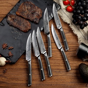 Image 5 - SUNNECKO 6 pcs ดามัสกัสเหล็กมีดสเต็กชุดกล่องบรรจุภัณฑ์ที่สวยงามมีดครัวชุด Cook ของขวัญ Chef อาหารค่ำเนื้อเครื่องตัด
