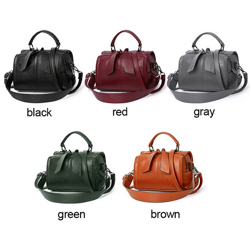 Image 2 - FUNMARDI Soft PU Leather Handbag Women Shoulder Bag High Quality Crossbody Bags Fashion Boston Pillow Ladies Bag Totes WLHB1976-in Top-Handle Bags from Luggage & Bags