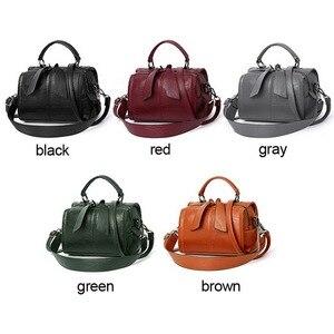 Image 2 - FUNMARDI Soft PU Leather Handbag Women Shoulder Bag High Quality Crossbody Bags Fashion Boston Pillow Ladies Bag Totes WLHB1976