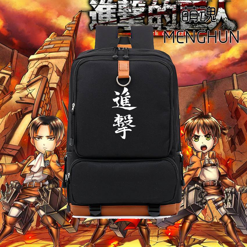 Cool big volume Attack on titan school bag game anime backpack anime fans gift attack on titan backpack NB182 лихачев д пер повесть временных лет