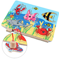 3D Magnetic Fishing Board Toy Wooden Mini Puzzle Educational Toys For Kids