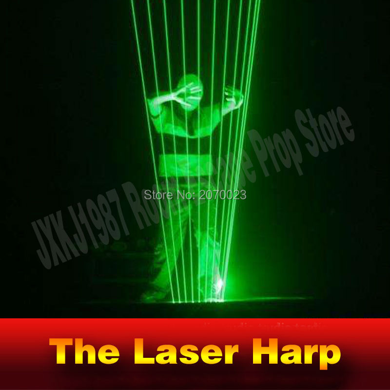 Takagism Game prop laser harp for room escape game puzzle clues device Play the right rhythm to unlock and get away chamber room