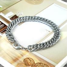 HOT SALE  Heavy Punk Rock Titanium Stainless Steel Men Male Fashion Bracelet Jewelry Gift Bangle Dropper Shipping