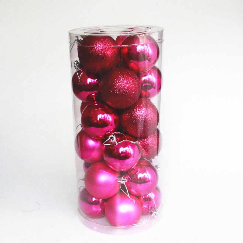 NIEUWE 24 stks/partij 30mm Kerstboom Decor Bal Snuisterij Xmas Party Opknoping Bal Ornament decoraties voor Huis kerstversiering