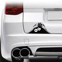 Funny Car Sticker Graphic Vinyl Peeking Monster