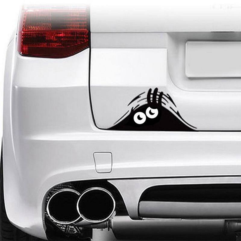 20*8cm drôle Peeking monstre Auto voiture murs fenêtres autocollant graphique vinyle voiture autocollants voiture autocollants style accessoires EA10701