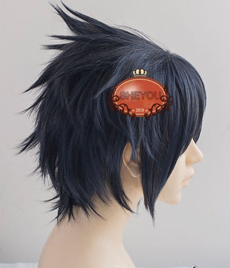 Final Fantasy Noctis Lucis Caelum Wig FF15 XV Heat Resistant Synthetic Hair Cosplay Wigs + Wig Cap