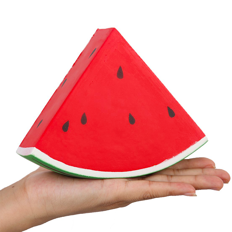 Jumbo Watermelon Squishy Cute Simulation PU Sweet Scented Slow Rising Squeeze Toy Soft Stress Relief Funny Gift Toy For Children