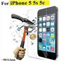 Для iphone 7 закаленного стекла Для iphone 4s 5 5s 5c SE 6 6 s плюс 7 plus экран протектор защитная пленка передняя чехол + c