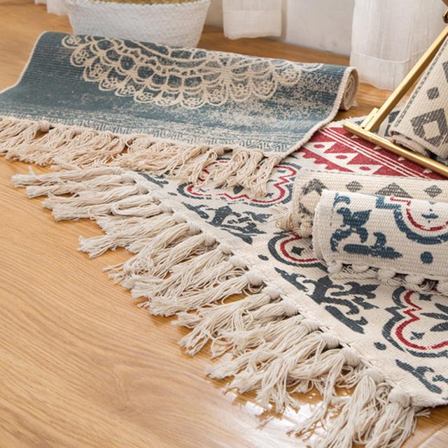 Bohemian Hand Woven Carpet / Rug