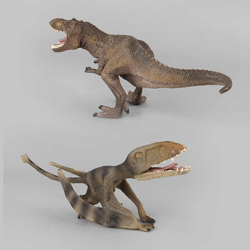 Figura de Ação Brinquedo para Jurassic dinossauro Tiranossauro Dragão Pterossauro Dinossauro Animal Coleção Modelo Brinquedos Para Presente Do Menino