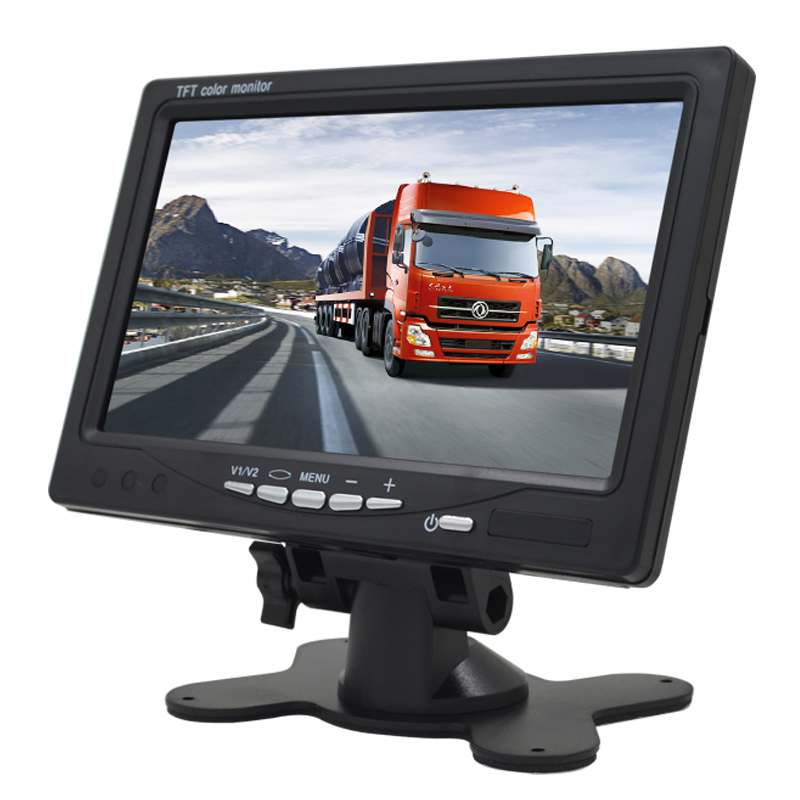 Mini Digital 1024*600 7 Inchs LCD Test Monitor CCTV Surveillance Camera AHD Analog 3 in 1 Security IPS Monitor For Video Camera-in CCTV Monitor & Display from Security & Protection    2