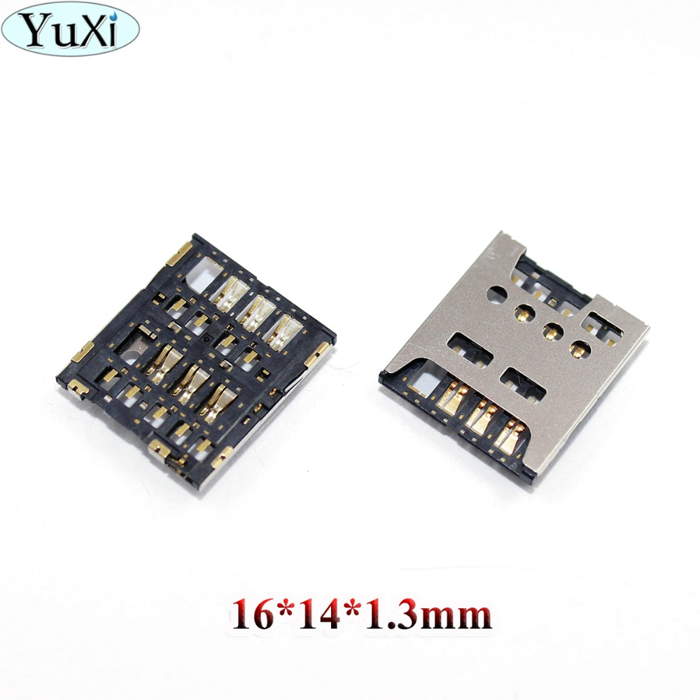 YuXi For <font><b>Nokia</b></font> Lumia <font><b>1320</b></font> For Sony Xperia S LT26 LT26i SP M35H C5302 <font><b>SIM</b></font> Reader Card Slot Holder Port Replacement Repair Part image