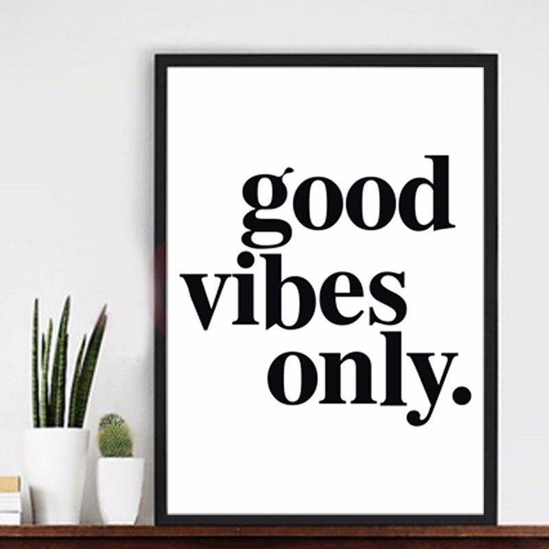2016 new Good Vibes Only Wall Canvas Pictures Citáty Plakát Moderní obrazy Pop Art Canvas Reprodukce olejomalby Domácí nástěnná výzdoba