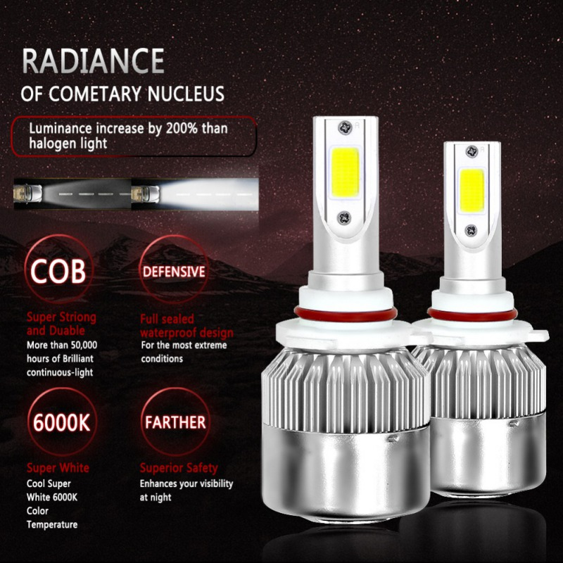 2 Pieces 110 W / Pair Kits H1 H3 H4 H4 LED HID Headlighs H11 HB3 HB4 9007 12 V 11000LM White Cooling 6500 K Car Front Light 5.22