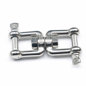 Image 2 - 304 Stainless Steel Rotation Quick Hook Buckles Jaw Shackle for Outdoor Rock Climbing Hiking Equipment Rotating Carabiner